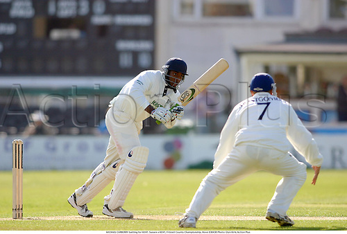 MICHAEL CARBERRY batting for KENT. Sussex v KENT, Frizzell County Championship, Hove 030430 Photo: Glyn Kirk/Action Plus...2003 cricket cricketers batsman