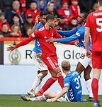 03.03.2019 Aberdeen v Rangers: Aggro with Max Lowe, Glen Kamara and Alfredo Morelos