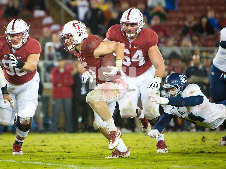 STANFORD, CA - November 26, 2016: Christian McCaffrey at Stanford Stadium. The Stanford Cardinal defeated Rice, 41-17.