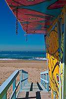 Playa Del Rey, CA, N41, Lifeguard Station, SoCal Beach, Summer of Color, exhibit, Lifeguard, Towers, Portraits of Hope, Geometric, shapes, High dynamic range imaging (HDRI or HDR)