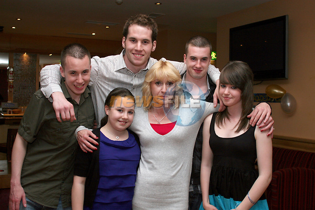 Seanan and family at his going away party in the Thatch...Photo NEWSFILE/Jenny Matthews.(Photo credit should read Jenny Matthews/NEWSFILE)....This Picture has been sent you under the condtions enclosed by:.Newsfile Ltd..The Studio,.Millmount Abbey,.Drogheda,.Co Meath..Ireland..Tel: +353(0)41-9871240.Fax: +353(0)41-9871260.GSM: +353(0)86-2500958.email: pictures@newsfile.ie.www.newsfile.ie.FTP: 193.120.102.198.