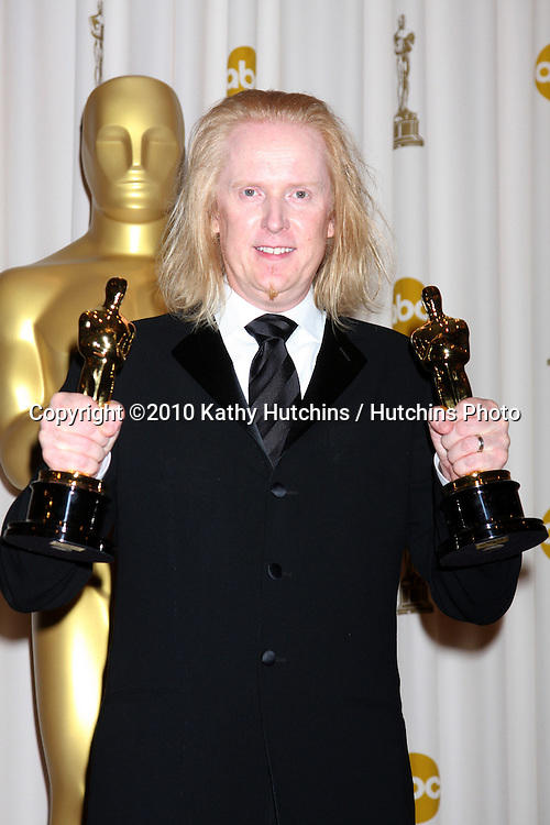 Paul N.J. Ottosson, winner of Best Sound Editing and Best Sound Mixing awards for 'The Hurt Locker,.in the Press Room of the 82nd Academy Awards.Kodak Theater.Los Angeles, CA.March 7, 2010.©2010 Kathy Hutchins / Hutchins Photo....