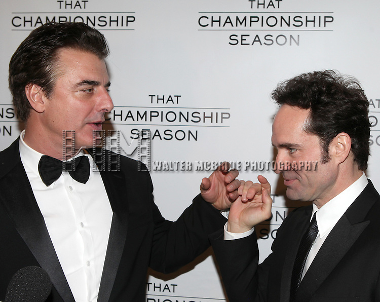Chris Noth & Jason Patric.attending the Opening Night Performance After Party for  'That Championship Season' at Gotham Hall in New York City.