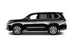 Car Driver side profile view of a 2018 Lexus LX 570 5 Door SUV Side View