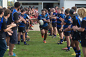 Filipe Pau leads the Onewhero team out for the Counties Manukau Premier Club Rugby game between Karaka and Onehwero played at Karaka Sports Park on Saturday May 7th 2016. Karaka won the game 46 - 9 after leading 20 - 9 at half time. Photo by Richard Spranger.