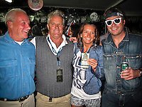 Co founder of Rip Curl Brian Sing-Ding Singer (AUS), Terry Fitzgerald (AUS) Layne Beachley (AUS) and Rip Curl's Marketing Manger Neil Ridgway (AUS). Bells Beach, Torquay, Victoria, Australia (Thursday, April 1, 2010) The waiting period for the 2010 Rip Curl Pro Bells and the Rip Curl Women's Pro has kicked  at the famous Bells Beach. The Rip Curl Pro is the second stop on the ASP World Tour and brings together the world's best male and female surfers. Not only will they be chasing valuable rating points and prize money but they will also be after bragging rights and the infamous Bell trophy..Rip Curl held their infamous media night party tonight with Lifetime Gold Passes handed out to three times winner Layne Beachley (AUS) and the 1972 winner of the contest, legendary shaper and surfer, the Sultan of Speed, Terry Fitzgerald (AUS)..Photo: joliphotos.com