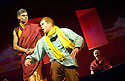 Herges Adventures of Tin Tin directed by Rufus Norris. A Young Vic Theatre Production. With Russell Tovey as Tin Tin ,Mark Lockyer. Opens at the Barbican Theatre on 14/12/05. CREDIT Geraint Lewis