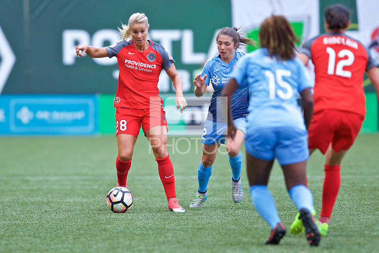 Portland, OR - Saturday June 17, 2017: Amandine Henry during a regular season National Women's Soccer League (NWSL) match between the Portland Thorns FC and Sky Blue FC at Providence Park.