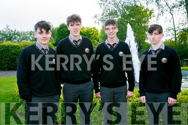 At the Brookfield College Graduation in the Ballyroe Heights Hotel on Thursday were Tadhg Breathnach, sean de pronndaibheit, Eoghan Ó Domhnaill and Deaglan O Harragan