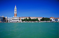 A view across the canal in Venice, Italy. cityscape, waterways, urban structure. Venice, Italy.