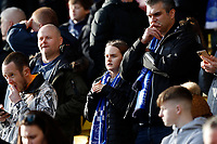 1st February 2020; Vicarage Road, Watford, Hertfordshire, England; English Premier League Football, Watford versus Everton; Everton fan looks on