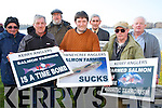 Kerry Anglers Dj O'Riordan, Killarney Salmon and Trout Angling Club, Dermot O'Mahony, Lough Lein anglers, Dr Jim O'Sullivan, Laune Angling club, Donal O'Doherty, Oweneycree angling club, Tim Doherty, Clonkeen Angling Club, Dominic O'Dwyer, Caragh Bridge Angling Club and Tony Millner, Gorry Angling Club, who will be travelling to Galway on Saturday to protest at the proposed Deep Sea Salmon Farm in Galway Bay.