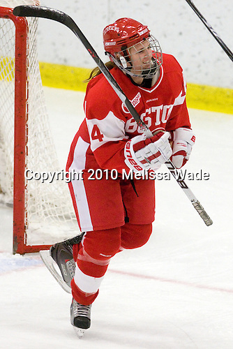 Shannon Mahoney (BU - 14) - The Northeastern University Huskies defeated the Boston University Terriers in a shootout after being tied at 4 following overtime in their Beanpot semi-final game on Tuesday, February 2, 2010 at the Bright Hockey Center in Cambridge, Massachusetts.