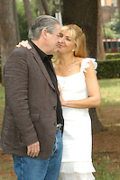 "PATRICK McGRATH & NATASHA RICHARDSON.Photocall for ""Asylum"", Rome, Italy..June 6th, 2007.half length white dress brown suit jacket profile .CAP/CAV.©Luca Cavallari/Capital Pictures"