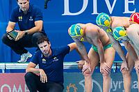 27-07-2019: WK waterpolo: Serbia v Australia: Gwangju<br /> Head Coach FATOVIC Elvis (AUS)<br /> Gwangju South Korea 27/07/2019<br /> Waterpolo M46 SRB - AUS<br /> 18th FINA World Aquatics Championships<br /> Nambu University Grounds <br /> Orange Pictures / Deepbluemedia / Insidefoto
