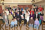 TWINS: Twins Jason with his Dad David Hickey (seated 5th from left) and Aoife Hickey with her Mom Margaret (seated 3rd from right) with their Parents on Sunday after their Christening in Firies Church, on Sunday and afterwards held a reception in Sheahan's Bar, Firies. With fam,ily and friends........ ..........