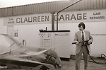 Claureen Garage, Lahinch Road, Ennis - January 1982. Photograph by Liam McGrath