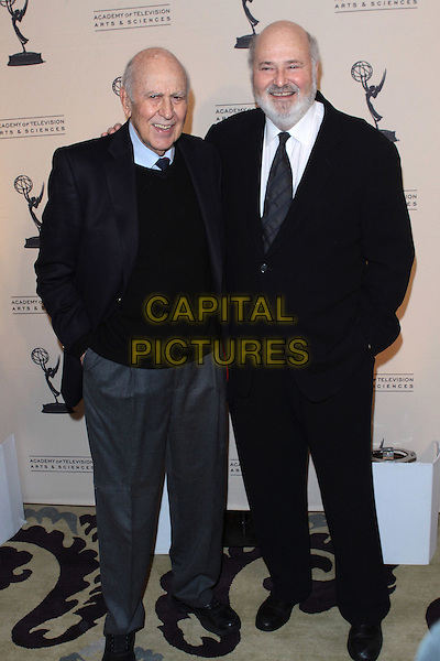 CARL REINER & ROB REINER.Academy Of Television  Arts & Sciences 19th Annual Hall Fame Gala  held at The Guys & Dolls Lounge, West Hollywood, CA, USA..January 20th, 2010.full length black jacket navy blue trousers grey gray father dad son family .CAP/ADM/TC.©T. Conrad/AdMedia/Capital Pictures.