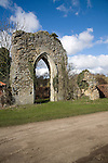 Grade 1 listed building, the arch is all that remains of Butley Abbey, Suffolk