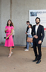 Adrien Brody arriving at the Film Festival of Ostend to inaugurate a star with his name on the promenade front of the sea with Moran Atias . <br /> When a fan propose to make a picture with his baby, Adrien Brody ready to be a father.<br /> Ostend, Belgium, 19 September 2014l