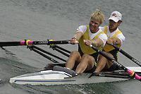 Munich, GERMANY, 2006, FISA, Rowing, World Cup, AUS M2X, Bow Chris Morgan and Craig Jones, held on the Olympic Regatta Course, Munich, Thurs. 25.05.2006. © Peter Spurrier/Intersport-images.com,  / Mobile +44 [0] 7973 819 551 / email images@intersport-images.com.[Mandatory Credit, Peter Spurier/ Intersport Images] Rowing Course, Olympic Regatta Rowing Course, Munich, GERMANY