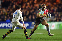 Jamie Roberts of Harlequins in possession. European Rugby Champions Cup match, between Harlequins and Wasps on January 13, 2018 at the Twickenham Stoop in London, England. Photo by: Patrick Khachfe / JMP
