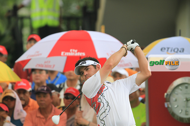 Louis Oosthuizen (RSA) on the 1st tee on Day 3 of the Maybank Malaysian Open 2012 at Kuala Lumpur Golf and Country Club, Kuala Lumpur, Malaysia...(Photo Jenny Matthews/www.golffile.ie)