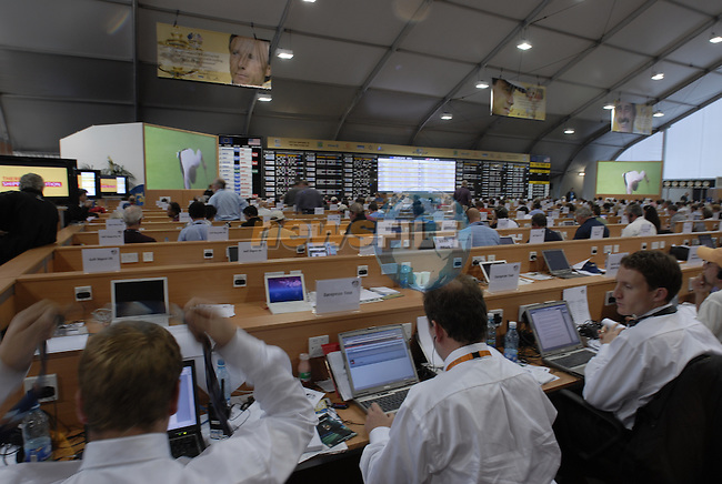 The media centre at the 2006 Ryder Cup at The K Club Saturday 24th September 2006.(Photo Eoin Clarke/Newsfile)