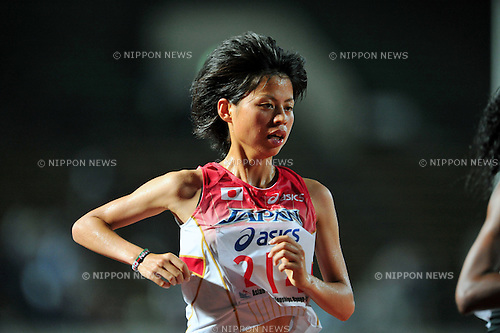 Yuriko Kobayashi (JPN),JULY 9, 2011 - Athletics :The 19th Asian Athletics Championships Hyogo/Kobe, Women's 5000m Final at Kobe Sports Park Stadium, Hyogo ,Japan. (Photo by Jun Tsukida/AFLO SPORT) [0003]