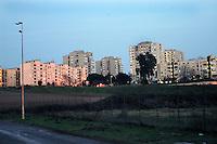 Roma January 2007.The district of Tor Bella Monaca