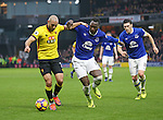 Watford's Nordin Amrabat tussles with Everton's Romelu Lukaku during the Premier League match at Vicarage Road Stadium, London. Picture date December 10th, 2016 Pic David Klein/Sportimage