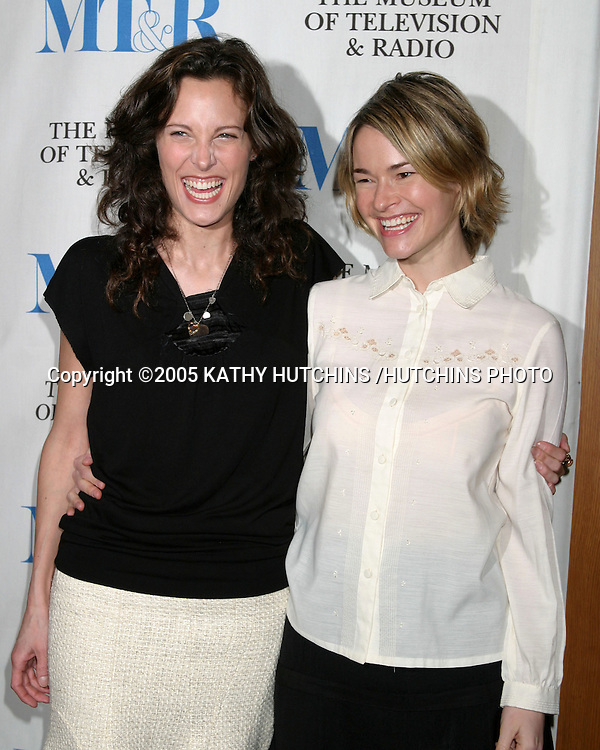 "ERIN DANIELS.LEISHA HAILEY.""THE L WORD"" PANEL .MUSEUM OF TV AND RADIO.DIRECTORS GUILD OF AMERICA THEATER.HOLLYWOOD, CA.MARCH 10, 2005.©2005 KATHY HUTCHINS /HUTCHINS PHOTO......."