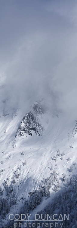 Hoher Goell massif in winter, Berchtesgaden national park, Bavaria, Germany