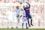Luka Modric (L) of Real Madrid fights for the ball with Andres Iniesta Lujan of FC Barcelona during the La Liga 2017-18 match between Real Madrid and FC Barcelona at Santiago Bernabeu Stadium on December 23 2017 in Madrid, Spain. Photo by Diego Gonzalez / Power Sport Images