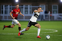 Cauley Woodrow of Fulham U23's in action during Fulham Under-23 vs Manchester United Under-23, Premier League 2 Football at Motspur Park on 10th August 2018