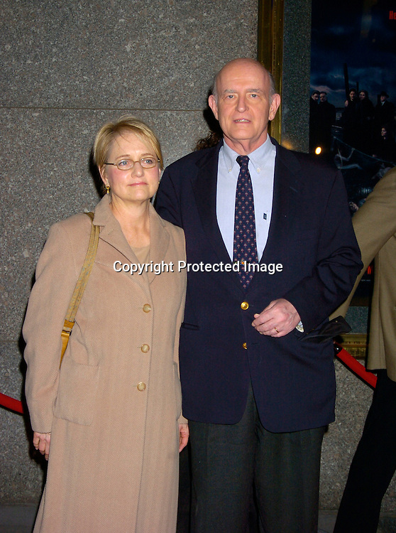 """Peter Boyle and wife Loraine..at the World Premiere of the fifth season of the HBO series ..""""The Sopranos"""" on March 2, 2004 at Radio City Music Hall. Photo by Robin Platzer, Twin Images"""