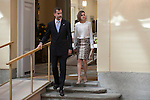Spanish Royals King Felipe VI of Spain and Queen Letizia of Spain attend a reception at El Pardo palace in Madrid, Spain. June 22, 2015. (ALTERPHOTOS/Victor Blanco)