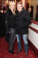 "NO REPRO FEE. 17/1/2010. The Field opening night. Siobhan and Paul Byrne are pictured at the Olympia Theatre for the opening night of John B Keanes 'The Field"" Picture James Horan/Collins"