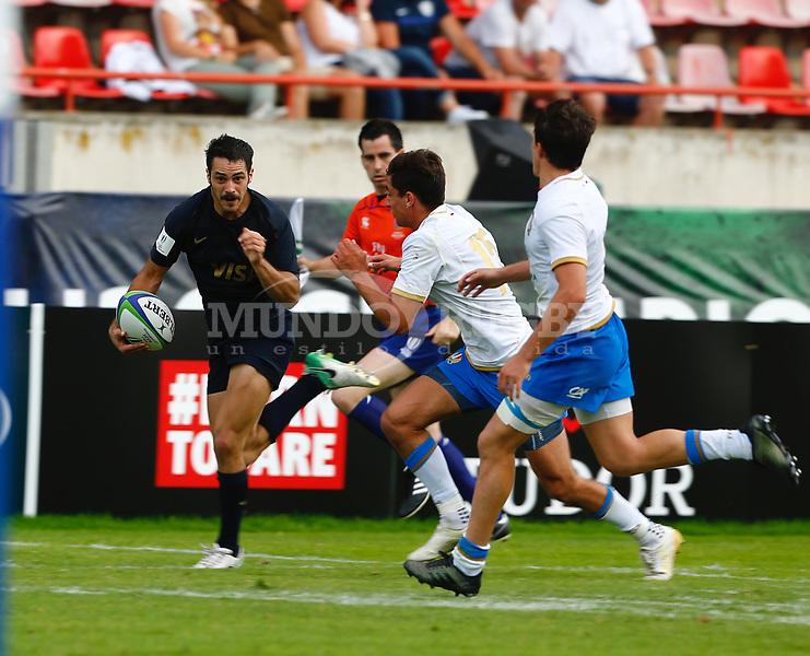 Leopoldo Hererra, Italy v Argentina, Beziers, Stade De La Mediterranee. France. World Rugby U20 Championship 2018. Photo Martin Seras Lima
