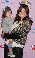 "BURBANK, CA - NOVEMBER 10: Tiffani Thiessen and daughter arrive at the Disney Channel's Premiere Party For ""Sofia The First: Once Upon A Princess"" at the Walt Disney Studios on November 10, 2012 in Burbank, California.PAP1112JP303..PAP1112JP303..PAP1112JP303.. NortePhoto /NortePhoto.com"