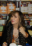 """Cast of Days Of Our Lives -  Lauren Koslow """"Kate Roberts"""" signs book """"Days Of Our Lives 50 Years"""" by Greg Meng - author & co-executive producer on October 27, 2015 at Books & Greetings, Northvale, New Jersey. (Photo by Sue Coflin/Max Photos)"""