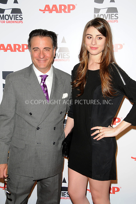 WWW.ACEPIXS.COM . . . . . ....February 7 2011, LA....Actor Andy Garcia and daughter Daniella Garcia Lorido arriving at the AARP Magazine 10th Annual Movies For Grownups Awards at the Beverly Wilshire Four Seasons Hotel on February 7, 2011 in Beverly Hills, CA....Please byline: PETER WEST - ACEPIXS.COM....Ace Pictures, Inc:  ..(212) 243-8787 or (646) 679 0430..e-mail: picturedesk@acepixs.com..web: http://www.acepixs.com