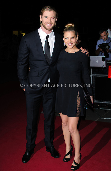 WWW.ACEPIXS.COM....US SALES ONLY....September 4, 2012, London, England.....Chris Hemsworth and Elsa Pataky arriving at the GQ Men of the Year Awards at the Royal Opera House on September 4, 2012 in London.......By Line: Famous/ACE Pictures....ACE Pictures, Inc..Tel: 646 769 0430..Email: info@acepixs.com