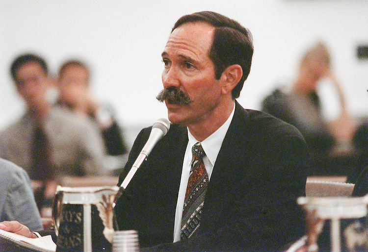 7/25/00.IMPACT OF BALANCED BUDGET ACT ON MEDICARE--Don L. Richey, administrator of the Guadalupe Valley Hospital in Seguin, Texas, testified on behalf of the American Hospital Associationin front of the Ways and Means Committee. .CONGRESSIONAL QUARTERLY PHOTO BY EMILY BARNES