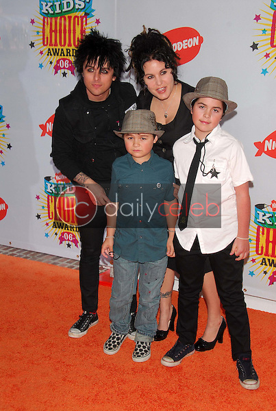 Billie Joe Armstrong and family<br />