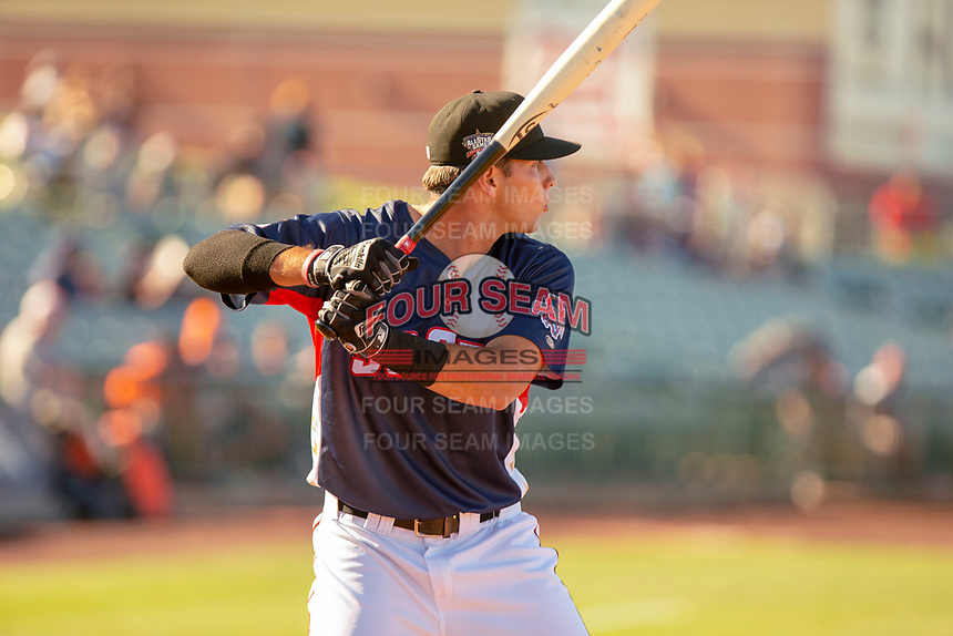 Hudson Potts (15) of the Lake Elsinore Storm participates in the Home Run Derby prior to the 2018 California League All-Star Game at The Hangar on June 19, 2018 in Lancaster, California. The North All-Stars defeated the South All-Stars 8-1.  (Donn Parris/Four Seam Images)