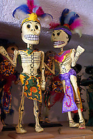 Skeletons from Oaxaca for sale in San Miguel de Allende, Mexico