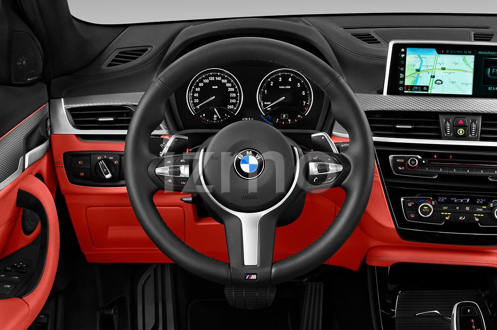 Car pictures of steering wheel view of a 2019 BMW X2 M35 5 Door SUV Steering Wheel