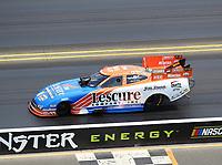 Jul 29, 2018; Sonoma, CA, USA; NHRA funny car driver Jim Campbell during the Sonoma Nationals at Sonoma Raceway. Mandatory Credit: Mark J. Rebilas-USA TODAY Sports