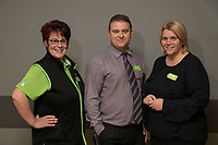 Long Service Colleaugues from left are Tracy Price, (25 years service), Andrew Dean (31 years service) and Bernadette Drummand (20 years service)of ASDA Langley Mill
